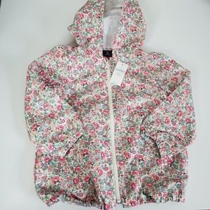 Baby Gap Floral Pink Green Raincoat Jacket Size 3T